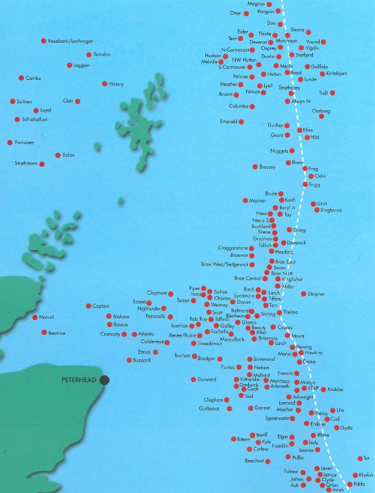 Map Of Uk Oil Fields.Finding Our Voices Crail Local Voices